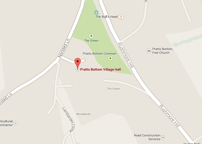 Pratts Bottom Village hall location
